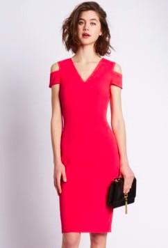 Per Una Speziale Cold Shoulder Shift Dress, M&S, €120