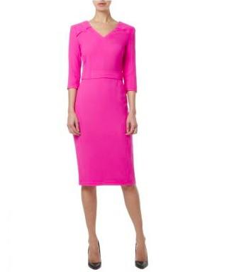 Goat V-Neck Bentley Pencil Dress Pink €620.00, Arnotts