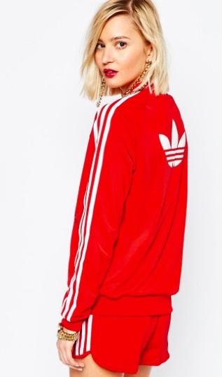 adidas Originals Adicolour 3 Stripe Zip Front Supergirl Bomber Track Top €77.46 Asos