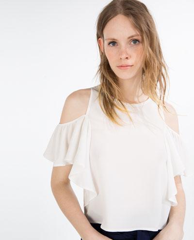 Zara Ruffle Top 17.95