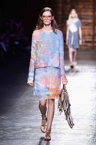 A model walks the runway during the Emilio Pucci fashion show as part of Milan Fashion Week Spring/Summer 2016 on September 24, 2015 in Milan, Italy.