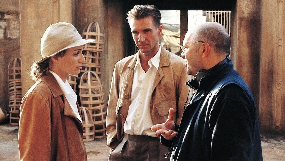Kristin Scott-Thomas with Ralph Finnes and director Anthony Mingella