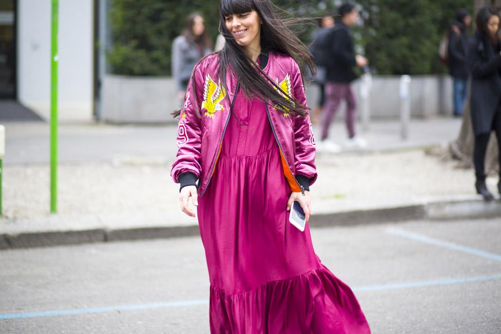 ARMANI Milano Moda Fashion Week Street Style AW16 25.2.16