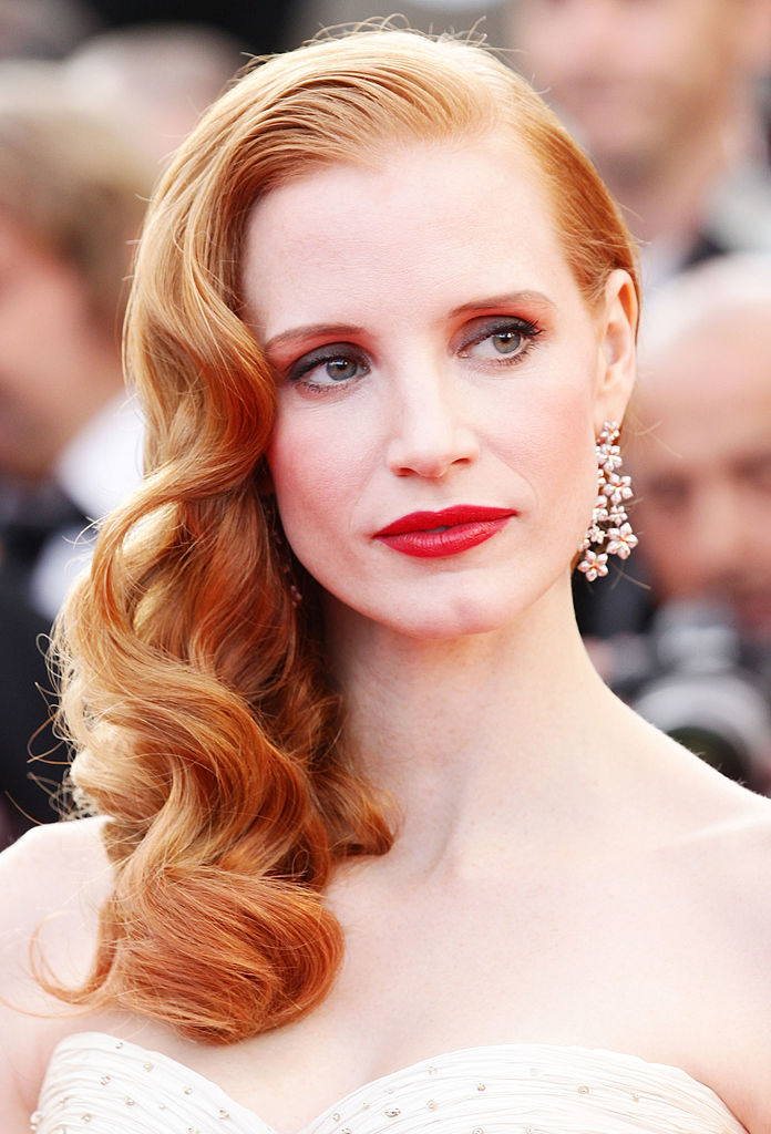 CANNES, FRANCE - MAY 18: Actress Jessica Chastain attends the'Madagascar 3: Europe's Most Wanted' Premiere during 65th Annual Cannes Film Festival during at Palais des Festivals on May 18, 2012 in Cannes, France. (Photo by Vittorio Zunino Celotto/Getty Images)