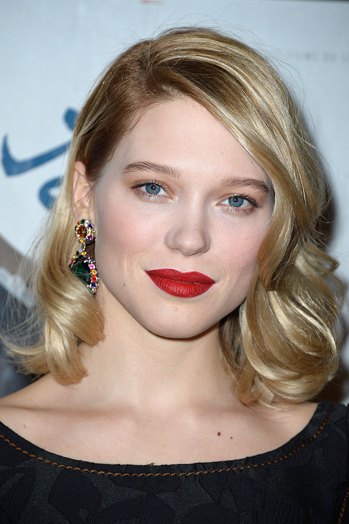 PARIS, FRANCE - MARCH 23: Lea Seydoux attends the Paris Premiere of'Journal D'Une Femme De Chambre' At MK2 Bibliotheque on March 23, 2015 in Paris, France. (Photo by Pascal Le Segretain/Getty Images)