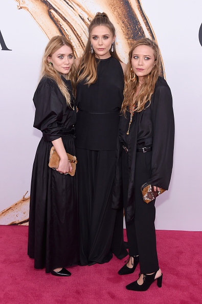 NEW YORK, NY - JUNE 06: Elizabeth Olsen (center) and Mary-Kate and Ashley attend Olsen the 2016 CFDA Fashion Awards at the Hammerstein Ballroom on June 6, 2016 in New York City. (Photo by Jamie McCarthy/Getty Images)