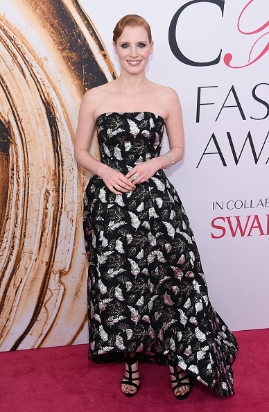 NEW YORK, NY - JUNE 06: Jessica Chastain attends the 2016 CFDA Fashion Awards at the Hammerstein Ballroom on June 6, 2016 in New York City. (Photo by Jamie McCarthy/Getty Images)