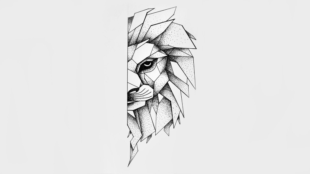 dot work lion head