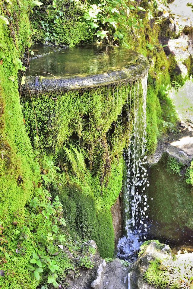A waterfall feature at Powerscourt Gardens