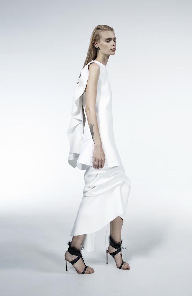 MATICEVSKI Imposed Petal Back Top _910 Victorious Longline Skirt _990