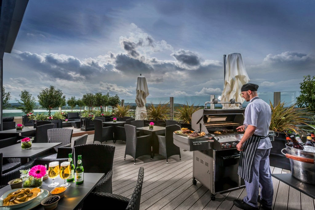 Roof Top Garden at the Loughrea Hotel and Spa