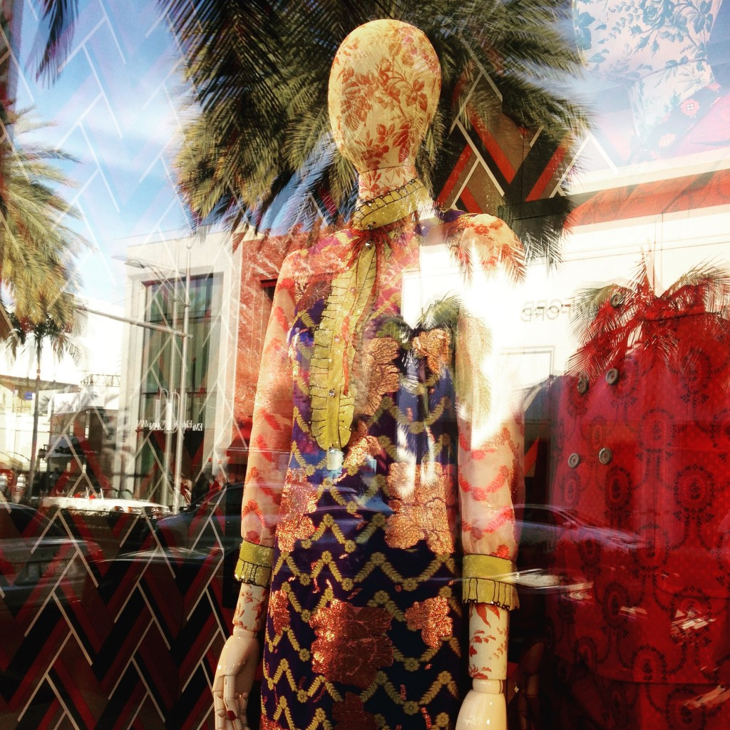 Window shopping on Rodeo Drive (hello Gucci!)