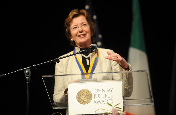 NEW YORK - APRIL 14: Mary Robinson attends the 2009 John Jay Justice Awards at John Jay College on April 14, 2009 in New York City. (Photo by Brad Barket/Getty Images)