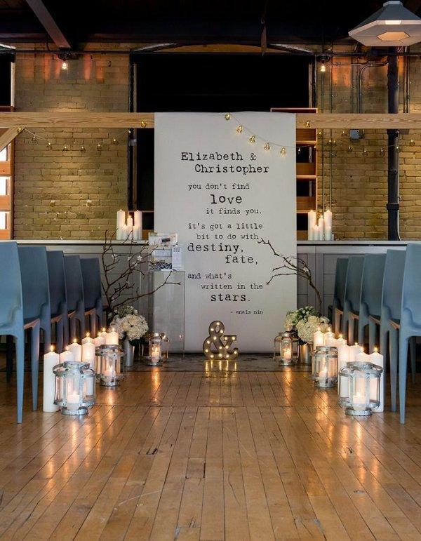 Chic-Industrial-Wedding-Reception-Ideas- deerpearlflowers.com