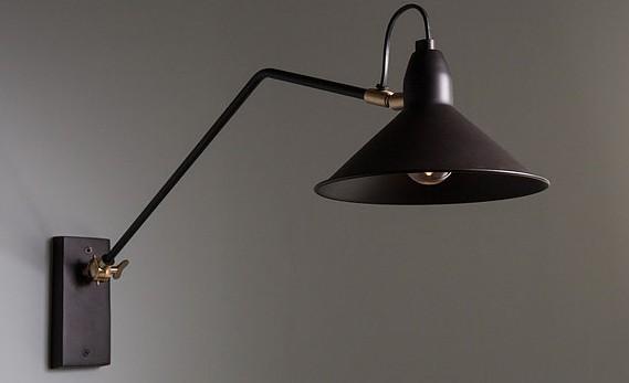 Adjustable Patt wall lamp, €129, April and the Bear