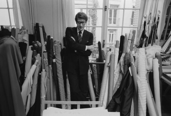 French fashion designer Yves Saint Laurent (1936 - 2008) in his Paris studio, January 1982. (Photo by John Downing/Getty Images)
