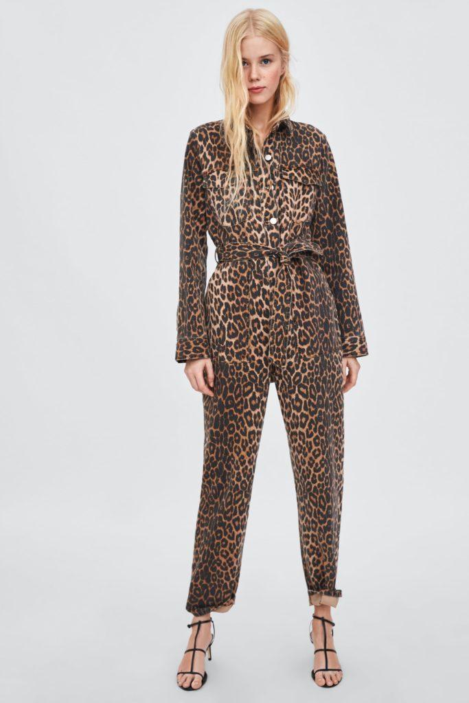Leopard print boiler suit, €59.95 at zara.com