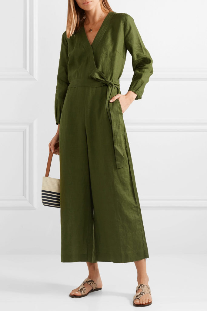 Fontana belted wrap-effect linen jumpsuit, €162 at net-a-porter.com