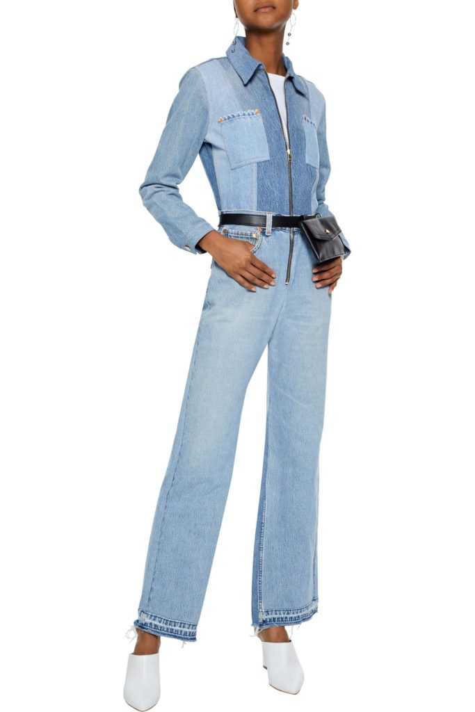 Patchwork denim jumpsuit by Levis, €475 at theoutnet.com