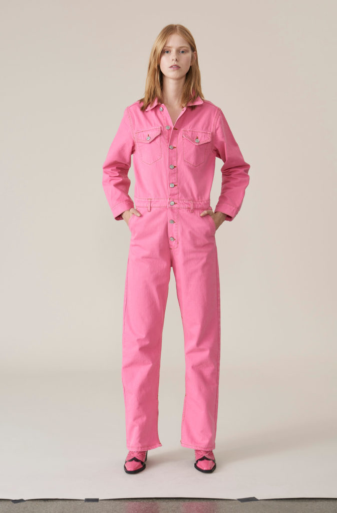 Pink denim boiler suit, €419 at ganni.com