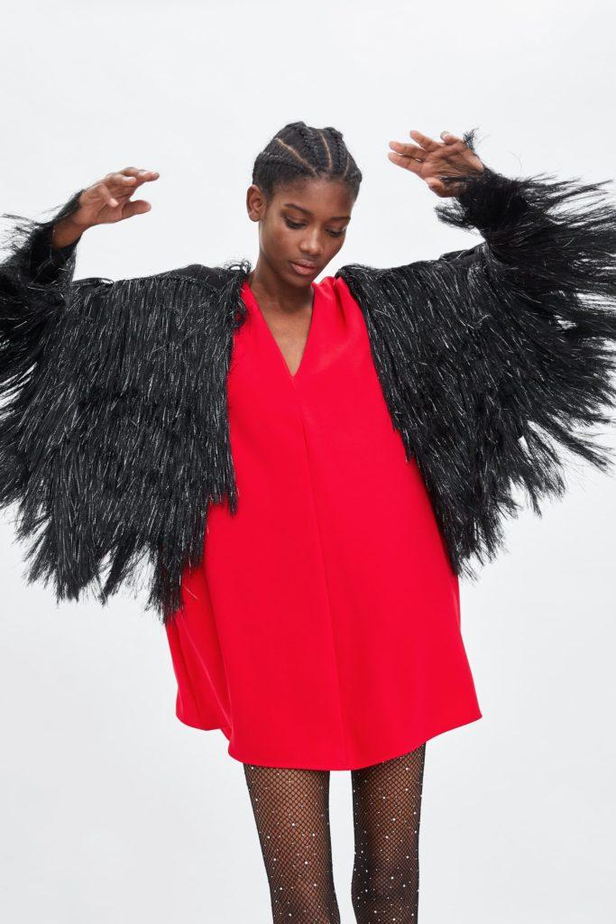 Red A-line dress, €39.95 at zara.com