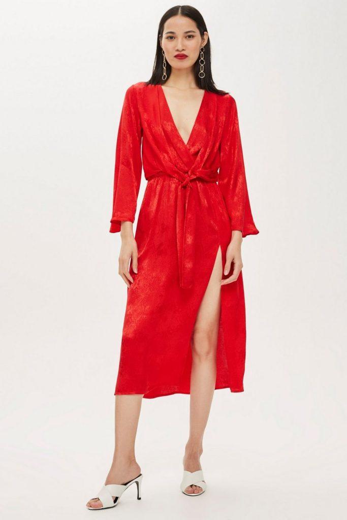 Snake jacquard knot midi dress, €68 at topshop.com