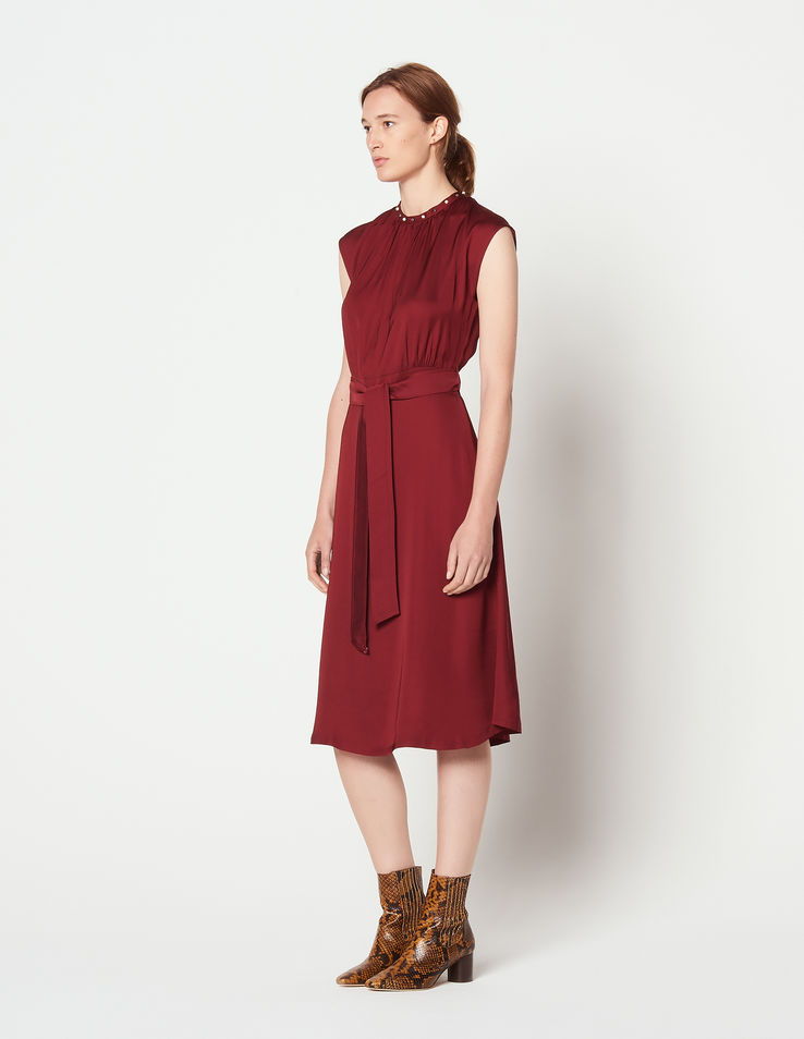 Sleeveless midi dress, €185.50 at sandro-paris.com