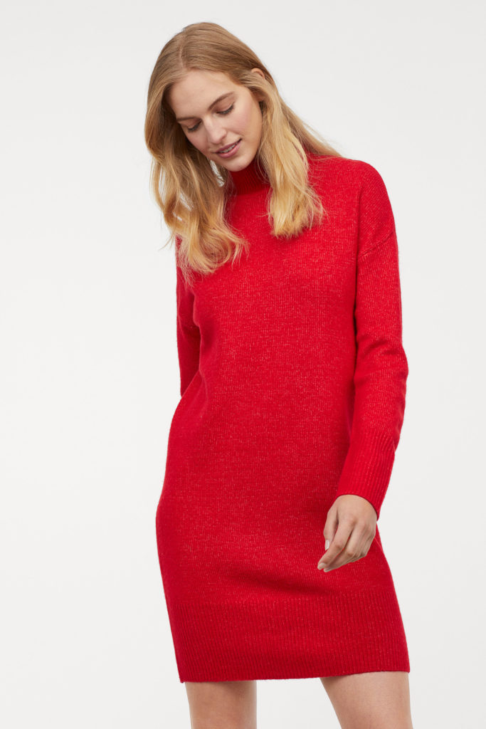 Knitted dress, €39.99 at hm.com