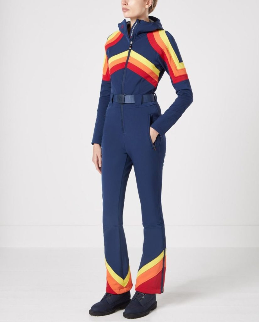 Tingues ski suit in snow navy, €675 at perfectmoment.com