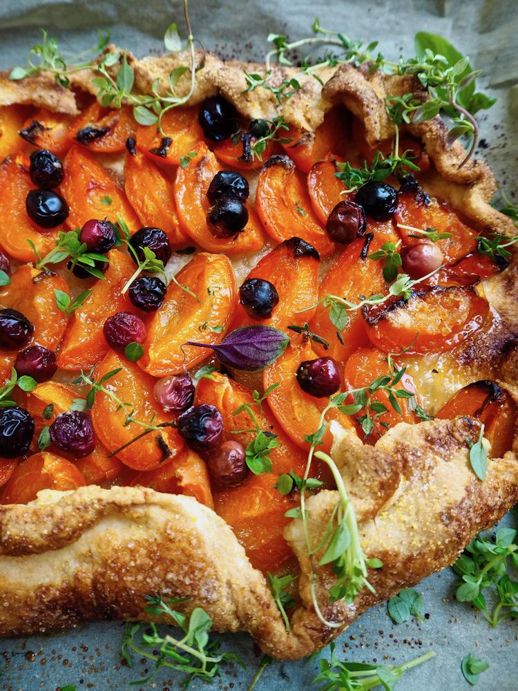 Apricot and plum tart Ellen Lunney
