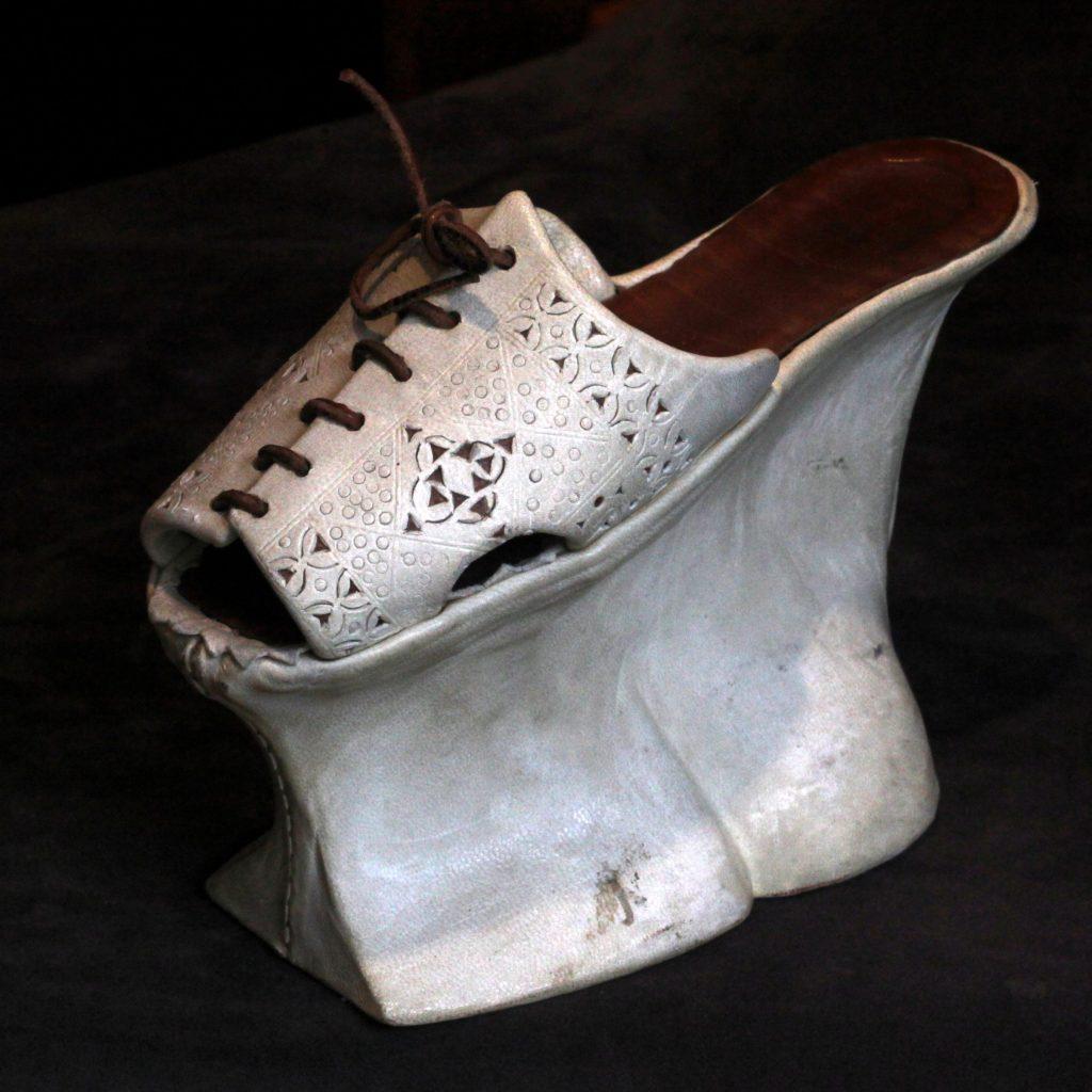 Chopine shoe from Shoe Museum Lausanne