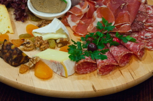 Meat and cheese platter at Olesya's Wine Bar
