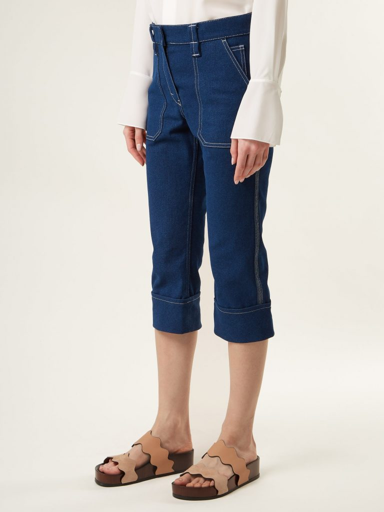 Mid-rise cropped jeans by Chloé, €590 at matchesfashion.com
