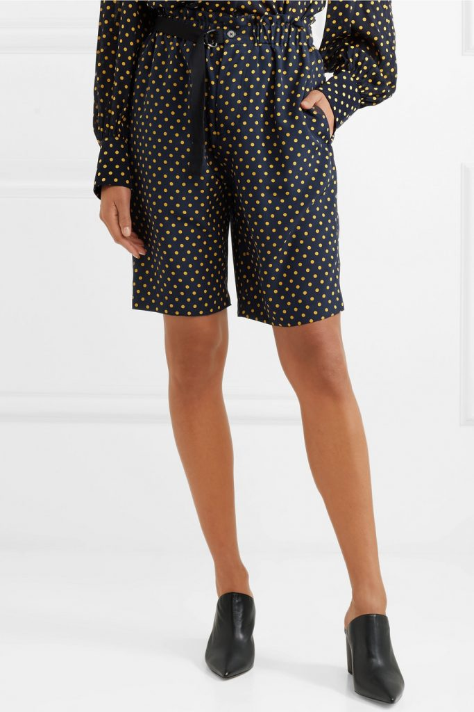 Luis polka-dot silk-georgette shorts by Joseph, €297 at net-a-porter.com