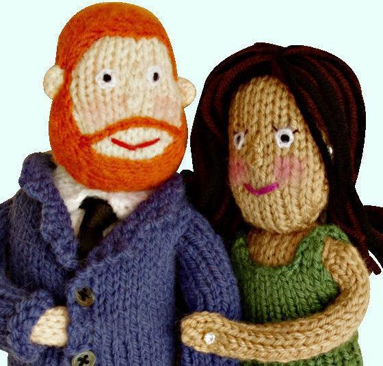 Royal wedding knit dolls