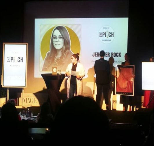 Jennifer Rock, winner of The Pitch