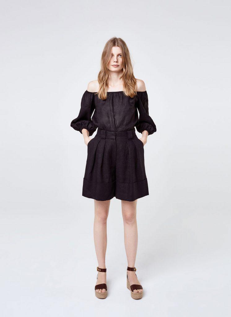 Linen Bermuda shorts, €115 at uterque.com