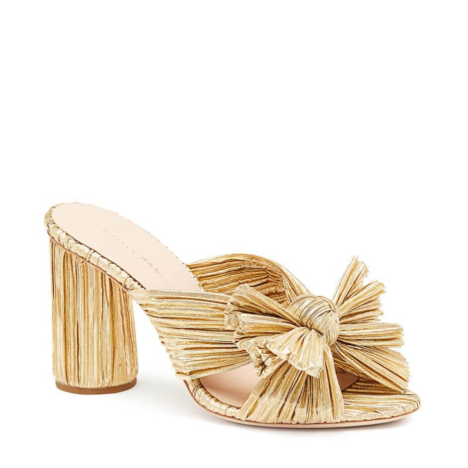 Penny pleated knot sandals, €334.91 at loefflerrandall.com