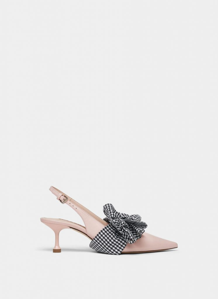 Slingback shoe with removable strap, €115 at uterque.com