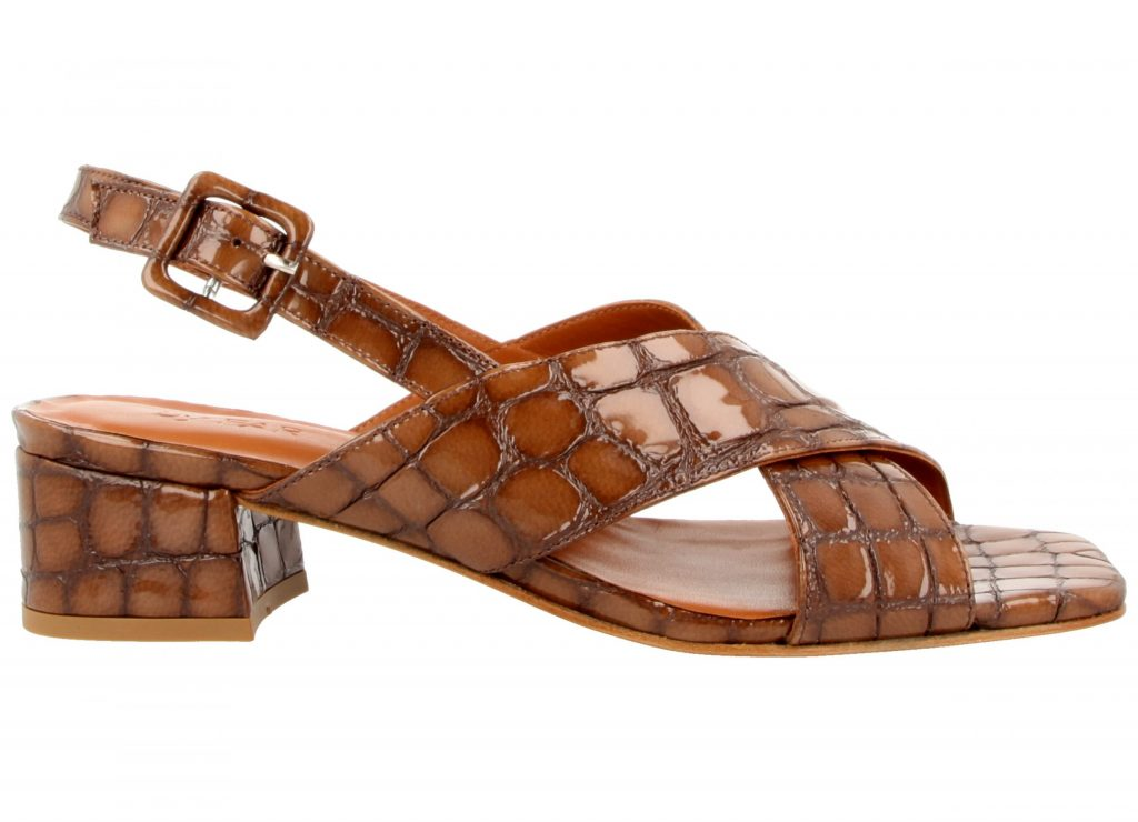 Croco embossed leather sandals, €360 at byfarshoes.com