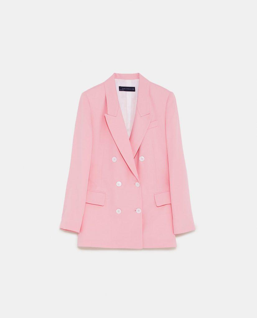 Double-breasted blazer, €69.95 at zara.com