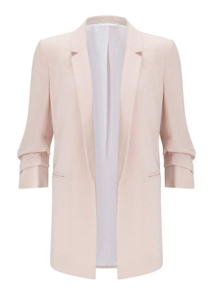 Blush ruched sleeve blazer, €44.46 at missselfridge.com