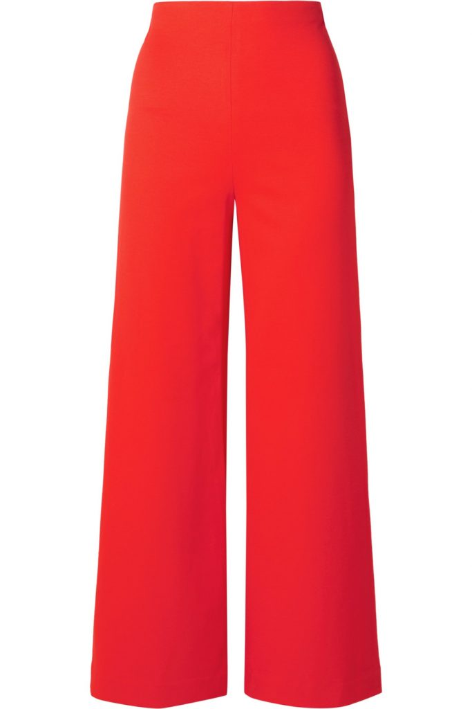 Cropped stretch-cady wide-leg pants by RosettaGetty, €813 at net-a-porter.com