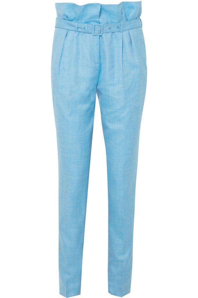 Beatrice wool, silk and linen-blend straight-leg pants by Gabriella Hearst, €795 at net-a-porter.com