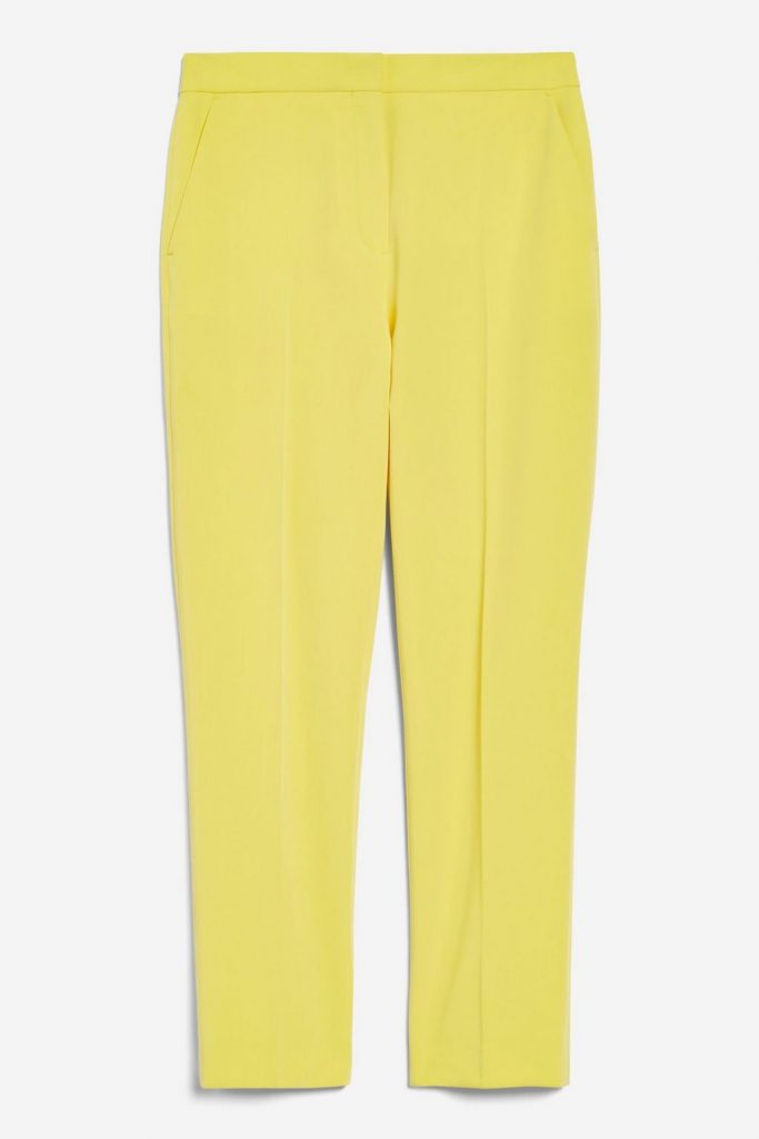 Yellow suit trousers, €42 at topshop.com