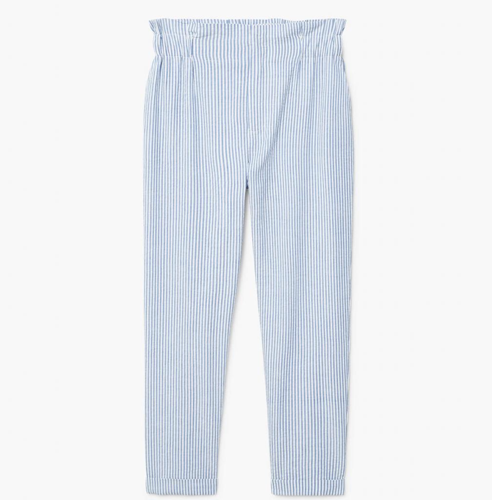 Fine-stripe suit trousers, €29.95 at mango.com