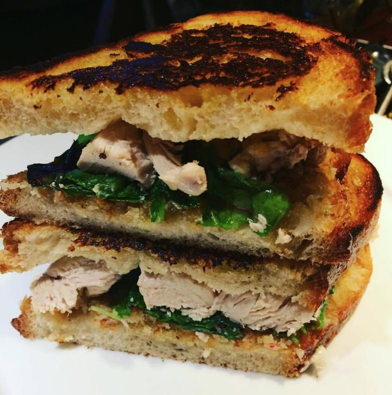 Chicken toastie at The Vintage Inn, Irishtown