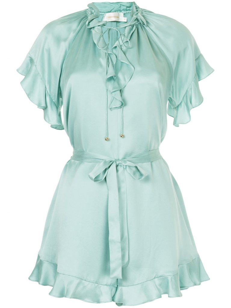 Ruffled playsuit by Zimmerman, €530 at farfetch.com