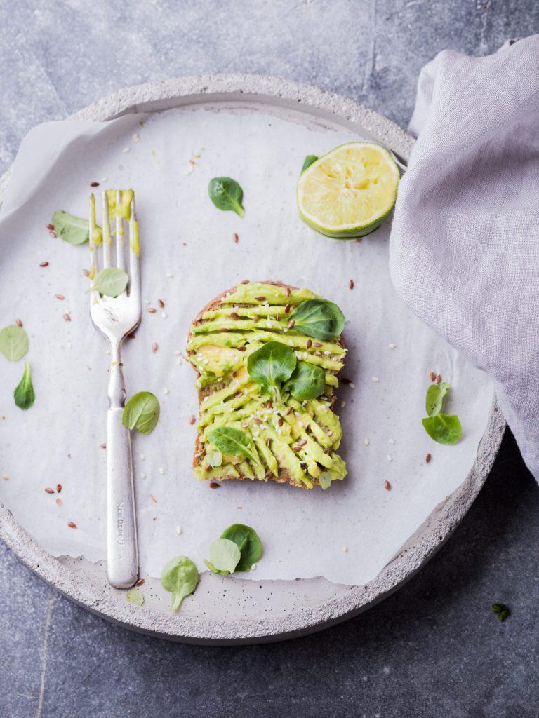 Avocado on toast, breakfast