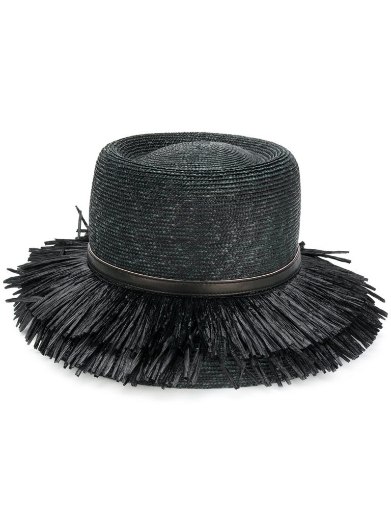 fringe brim hat by Ermanno Scervino, €271 at farfetch.com